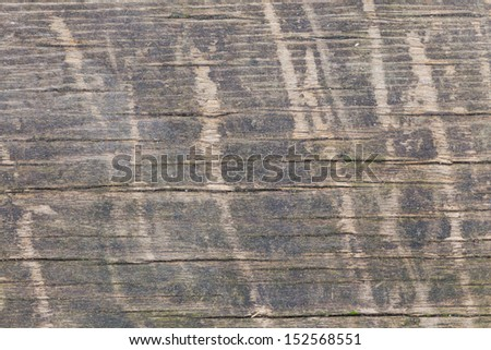 texture of wood plank with scratches - stock photo