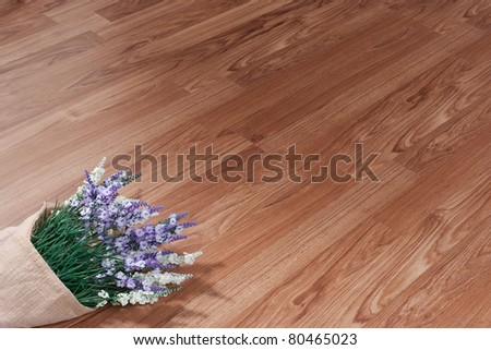Texture of wooden floor with empty space to put text or photo on it - stock photo