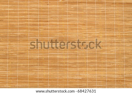Texture of Wooden mat in the temple hall, Thailand - stock photo