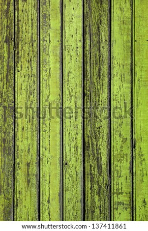 Texture of wooden old green planks - stock photo