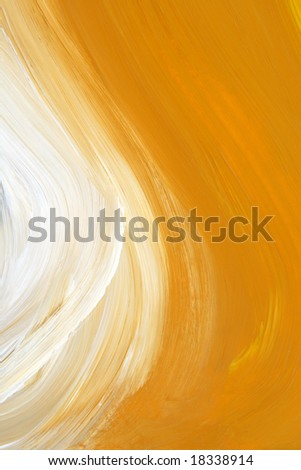 Texture of yellow and white oil-painted brush strokes.