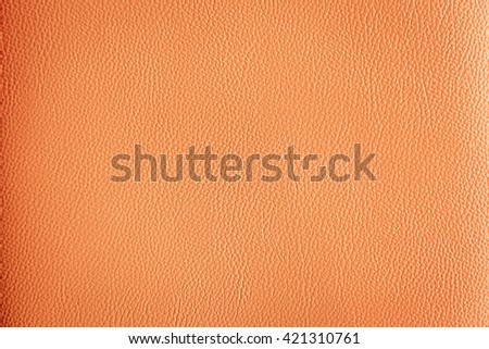 Texture orange artificial leather background
