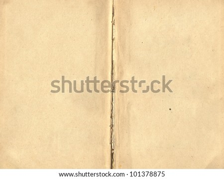 Texture - pages of old book - stock photo