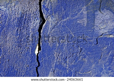 texture painted wall with crack - stock photo