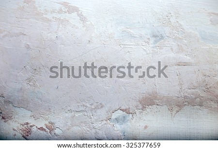 texture plastered walls (plaster) with a blue tint - stock photo