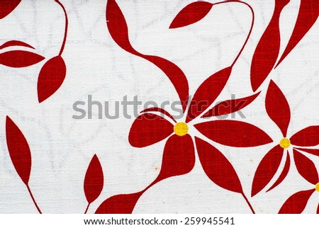 texture, print and wale of fabric in beautiful floral pattern - stock photo
