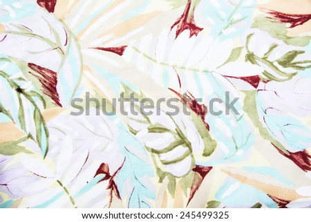 texture, print and wale of fabric in seamless beautiful floral - stock photo