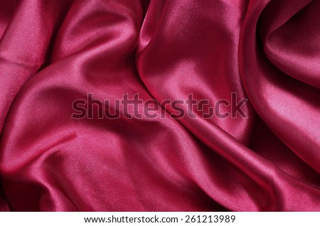 Texture red satin, silk background - stock photo