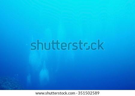Texture sea water underwater - stock photo
