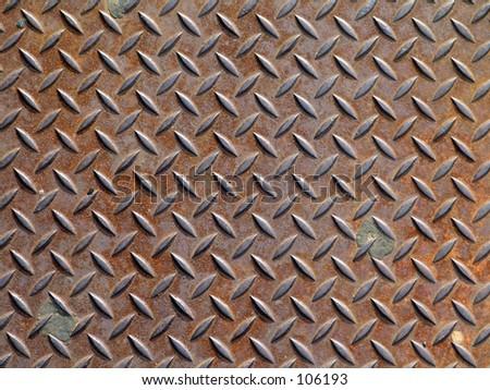 Texture Series Diamond Plate Two - stock photo