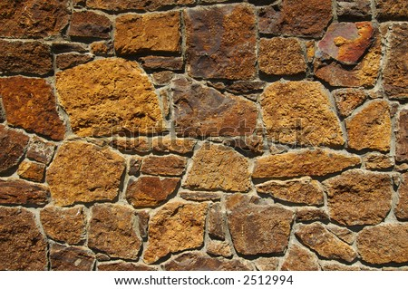 Texture Series. Old Stone Brick Wall Background - stock photo