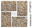 Texture: Stone Wall 2 - stock photo