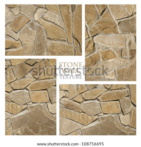 Texture: Stone Wall 6 - stock photo