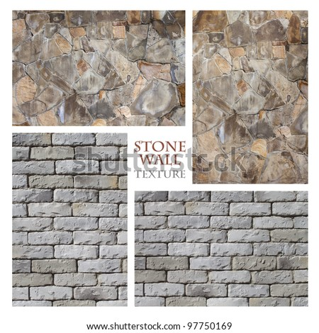 Texture: Stone Wall 4 - stock photo
