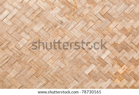 Texture surface of native thai style bamboo wall