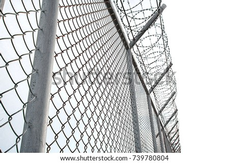 Texture Cage Metal Net Isolate On Stock Photo (Royalty Free ...