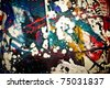 texture , Trace; ; paint; abstract; color; background; expressive; ; composition - stock photo