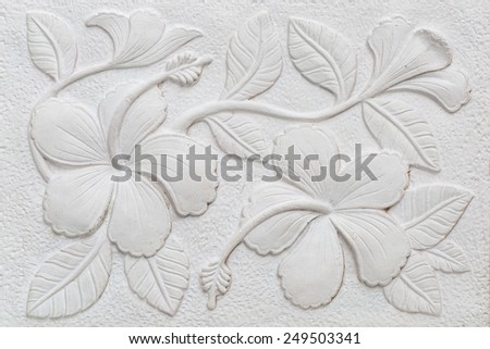 texture white Orchid stripes on the cement floor. - stock photo