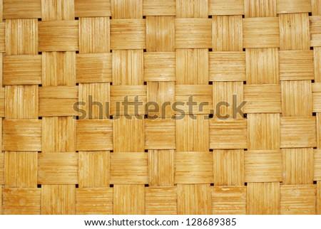 Texture wicker basket - stock photo