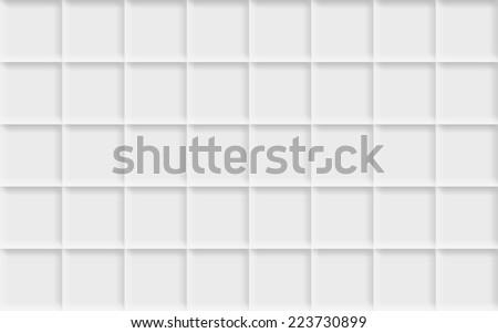 Texture with white tiles - stock photo