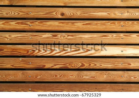 texture wood and concrete, planks of cherry wood - stock photo