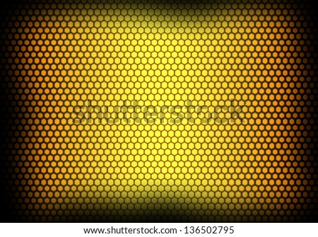 Texture yellow honeycomb background.