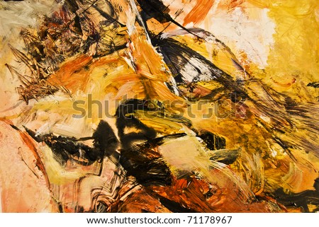 Textured abstract expressionist acrylic painting - stock photo