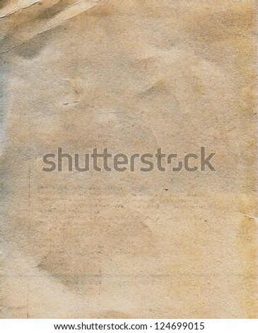 Textured aged dirty stained grainy paper with natural fiber parts
