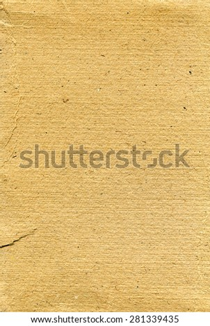 Textured aged rough grainy paper with natural fiber parts - stock photo