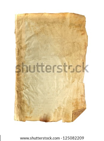 Textured Antique Paper on white background