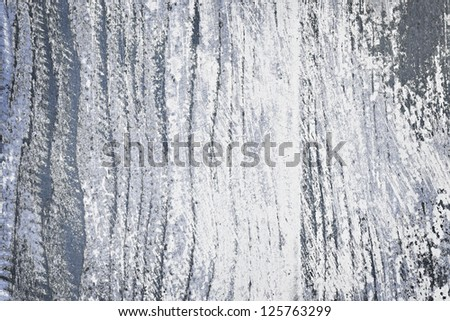 Textured background of distressed rustic wood with peeling blue and white paint - stock photo