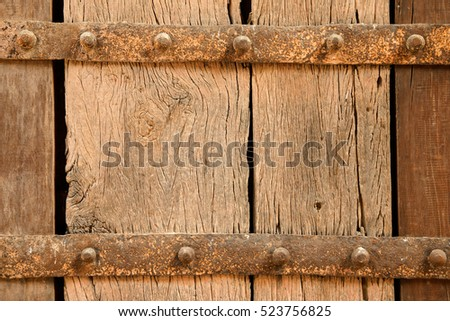 Textured background of rough, weathered wood