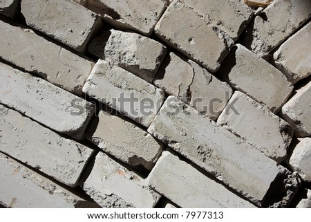 textured background - white brick wall close up