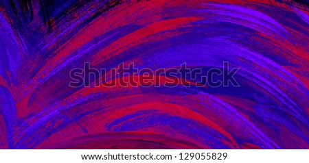 Textured background with red, purple and blue brush strokes - stock photo