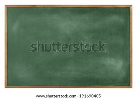 Textured Blackboard with a Brown Border - stock photo