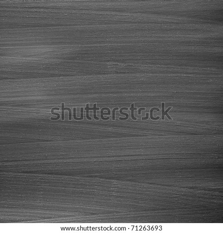 textured blackboard with wash stains - stock photo