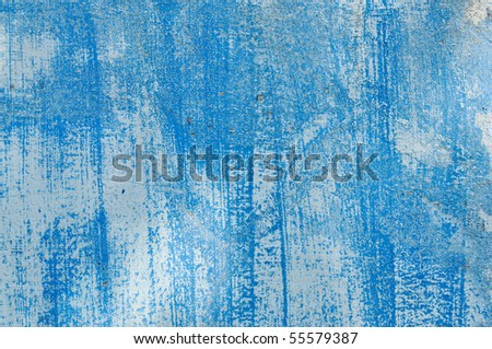 Textured blue wall - stock photo