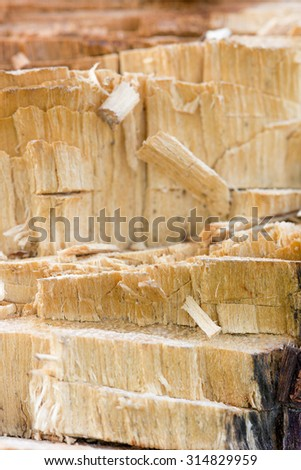 Textured Broken wood for background.