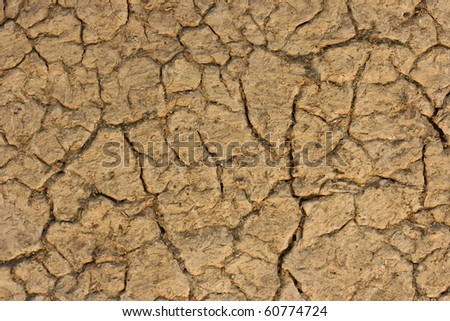 textured clay - stock photo