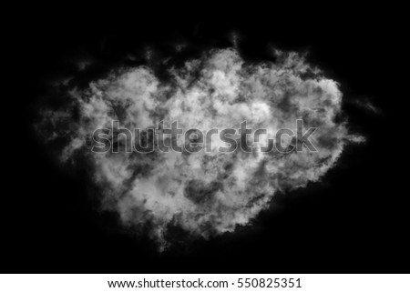 Textured cloud,Abstract black,isolated on black background