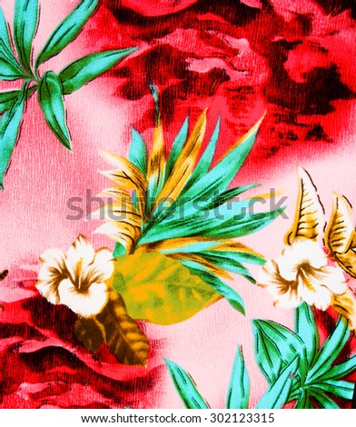 textured fabric of flower - stock photo