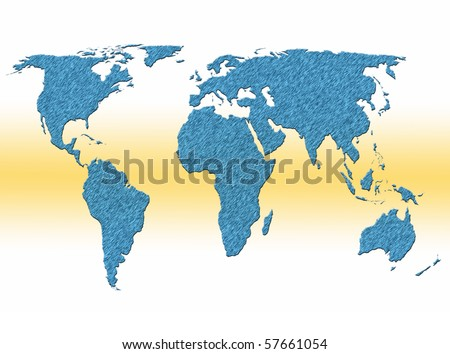 World Map Labels Stock Vector Shutterstock - The world map with labels