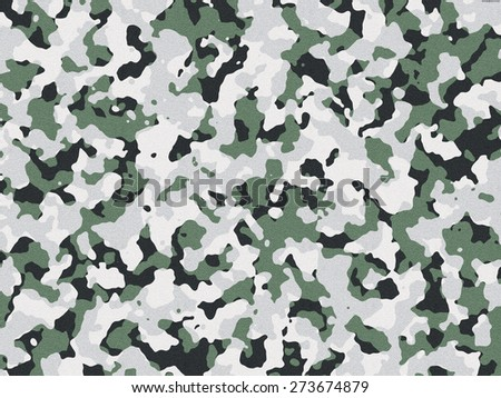 Textured green and black camouflage  - stock photo