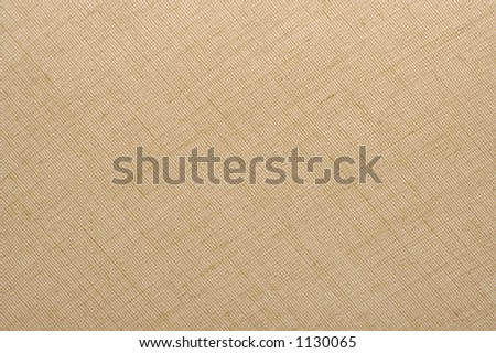 Textured Natural Tan Linen Fabric Background - stock photo