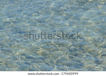 Textured of clear sea water background