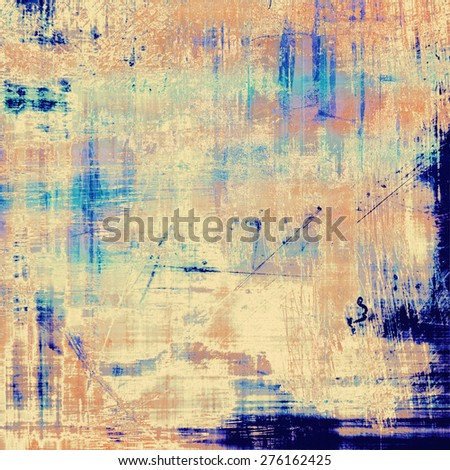 Textured old pattern as background. With different color patterns: gray; blue; yellow (beige); cyan - stock photo