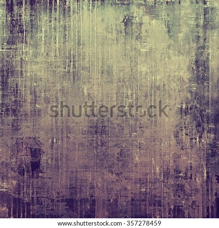 Textured old pattern as background. With different color patterns: yellow (beige); purple (violet); gray; black - stock photo