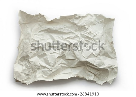 Textured paper on white background - stock photo