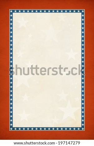 Textured patriotic background with room for copy space. - stock photo