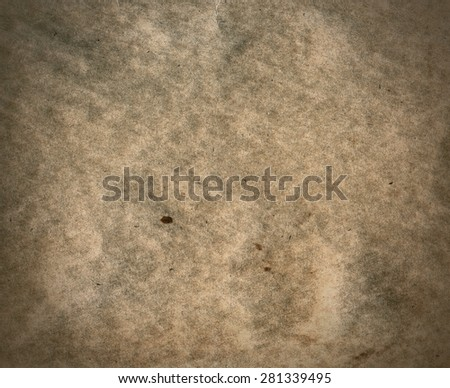 Textured recycled dirty paper with natural fiber parts - stock photo